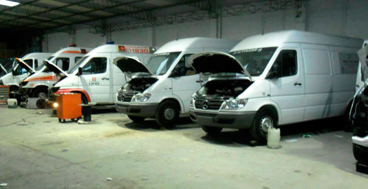 Servicio Mecánico, Aire Acondicionado Flota Ambulancias Montevideo