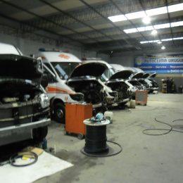 Instalación de equipos de aire acondicionado flota de ambulancias